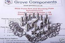 MGB Pedal box Fixing Kit (Stainless Steel). Most Models