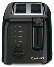 Cuisinart Electronic Compact 2-Slice Black Toaster -  Black