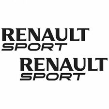 Lot de 2 Sticker RENAULT SPORT Couleur NOIR pour Megane Estate GT