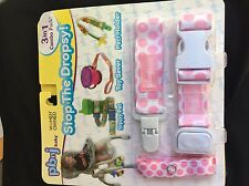 Stop the Dropsy Combo Pack (SipppyPal, Paci Holder, Toy Saver) pbnj baby Pink