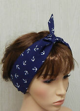 Retro headband, 50's cotton hair scarf, rockabilly head scarf, pinup hairband