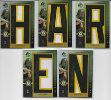 "2007 UD SP AUTHENTIC DAN HAREN BY THE LETTER SIGNATURES NAME ""HAREN"" PATCH 1/5"