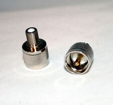 F-Type Female to UHF (PL-259) Male Adapter; Fast Shipping; US Seller