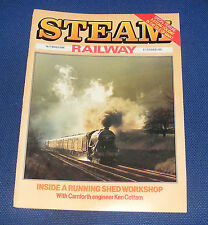 STEAM RAILWAY MAGAZINE MARCH 1986 - INSIDE A RUNNING SHED WORKSHOP