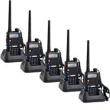 5 PCS Baofeng walkie talkie UV-5R 136-174/400-520MHz Dual-Band Two way Radio