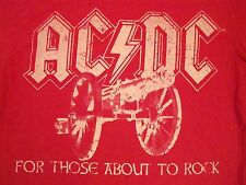 AC/DC ACDC For Those About To Rock Album Classic Metal Music Soft T Shirt S