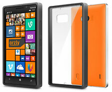 Orzly Fusion Bumper Gel Case With Clear Rear Panel For Nokia Lumia 930 - BLACK