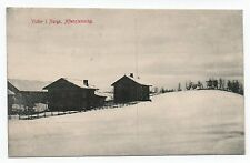 NORWAY Vinter i Norge Aftenstemning 1908 Postcard