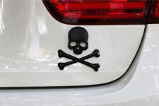 HT-091 3D Alloy Black Skull Bones Evil Skeleton Emblem for Toyota Hyundai Chev