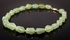Antique   Chinese Genuine  Jade  Bean necklace  113 gr  Large bead  Estate