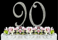 NEW Large Rhinestone  NUMBER (90) Cake Topper 90th Birthday Party Anniversary