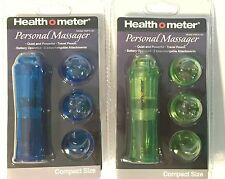 Set of 2 Health O Meter Battery Compact Personal Massager w/ accessories - NEW