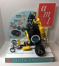 AMT DEPTH CHARGER HOT ROD MODEL KIT STORE DISPLAY BASE ONLY