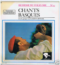 LP FRANCE LAGUN ARTEAK CHANTS BASQUES RICHESSE DU FOLKLORE VOL 12