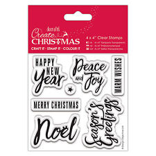 TRADITIONAL SENTIMENTS Clear Stamp - Create Christmas Collection - DoCrafts