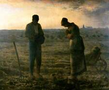 Jean-Francois Millet The Angelus Giclee Fine Art Canvas Print 20''x24''