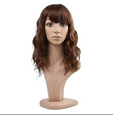 MelodySusie Mid-length Curly Wavy Wig Dark Brown 57-7254-424