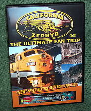 "cp023 TRAIN VIDEO DVD ""THE CALIFORNIA ZEPHYR"" VINTAGE FILM 1960's"