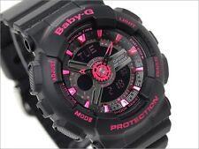 Casio Baby-G Womens Wrist Watch BA111-1A  BA111-1ACR Black Pink New