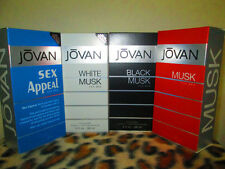 JOVAN MUSK MIX COLORS COMBO 4 FOUR BOTTLES 3.0 OZ / 88 ML COLOGNE SPRAY  FOR MEN