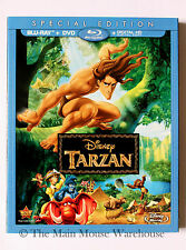 Disney Tarzan Blu-ray DVD Digital Copy English French Spanish No Slipcover