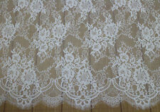 3Meters French Chantilly Style Eyelash Double Edge Lace Fabric~Wedding Dress S7