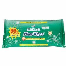 20 X CLEAN UPS DISPOSABLE LARGE MOP WET FLOOR CLEANING FRAGRANCE WIPES