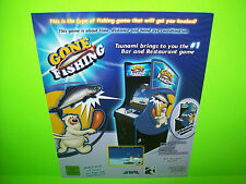 JVL Corp Tsunami Gone Fishing Original NOS Video Arcade Game Promo Sales Flyer