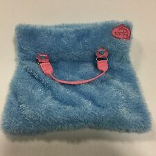Pucci Battat Pups Pet Toy Carrier Only Blue Pink Heart Sparkle Tote Open Purse