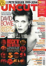UNCUT Take 203 April 2014 RIP DAVID BOWIE Diamond Dogs at 40 + CD David Crosby