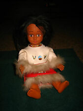 "VINTAGE INDIAN GIRL DOLL~ FROM THE 60'S~APPROX. 11""~BODY IS PLASTIC FACE RUBBER"