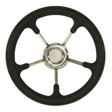 "Marine Boat 12.5"" Black Foam Steel Steering Wheel Fits 3/4"" Tapered Key Way"