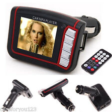 LCD Car MP3 MP4 Player Wireless FM Transmitter Cigarette Lighter Modulator Audio