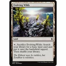 MTG BATTLE FOR ZENDIKAR * Evolving Wilds x4