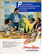 PUBLICITE ADVERTISING 094  1987  MONIQUE RANOU    chacturerie paté saucisson