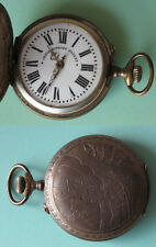 ANTIQUE HUNTER CASE POCKET WATCH SYSTEME ROSKOPF / FUNCTIONAL