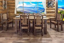 Rustic Farmhouse Style Dining Room Furniture Set Table (6) Chairs Amish Handmade