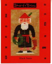 Birds of a Feather BLACK SANTA Counted cross stitch chart