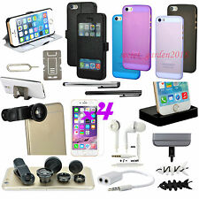 20 x Accessory Bundle Black Fish Eye Lens Case Cover Charger For iPhone 5G 5S