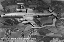 Postcard 779 - Aircraft/Aviation Real Photo Lockheed Radar Super Constellaition