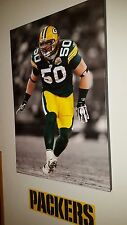 "AJ Hawk Green Bay Packers Rookie ONE OF A KIND Canvas Picture 24""X35"""