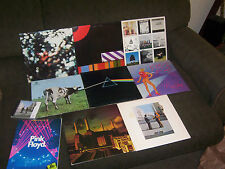 PINK FLOYD 7 LP LOT w DARK SIDE OF THE MOON, WISH YOU WERE HERE, THE WALL & BOOK