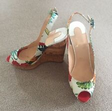 DESIGNER Christian Louboutin Hawaii Print Wedges With Box And Dustbag Size UK5