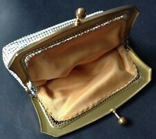 Oroton Vintage White Coin Purse Mesh Made West Germany Classic 1970s Retro