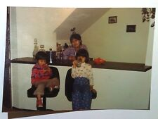 Vintage Photography PHOTO CUTE BOY GIRL KIDS PRETENDING TO DRINK BEER AT WET BAR