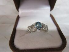 GORGEOUS ESTATE 14 KT GOLD 1.30 CTW VIVID BLUE DIAMOND RING !!!!!!!!!!!!