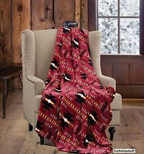 "Native Burgundy Luxury Soft Light Weight Fleece Cashmere Throw Blanket 60""x80"""