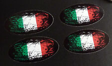 ITALY Flag Fade to Black Oval Car Motorcycle Stickers 50mm Set of 4 ITALIAN Bike