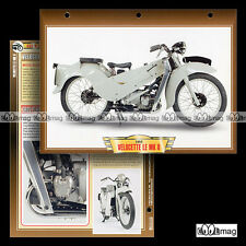 #021.06 Fiche Moto VELOCETTE LE 200 MK2 1952 Classic Motorcycle Card