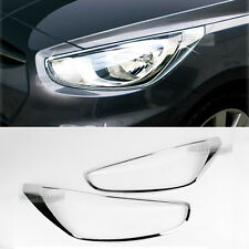 Chrome Front Head Light Lamp Cover Molding for HYUNDAI 2011-2016 Verna / Accent